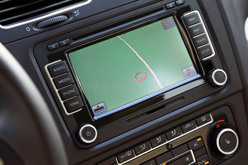 samochodowy multimedialny system nawigacji zdjęcie stock