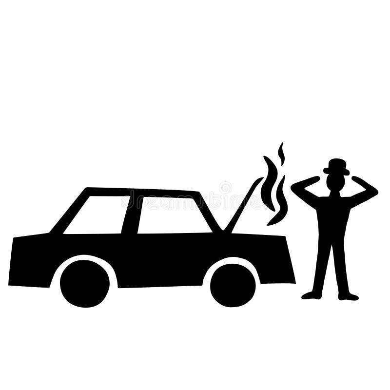 Samochodowy niepowodzenie ilustracji