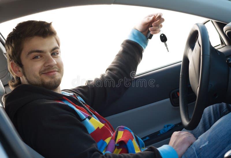samochodowy nowy właściciel obraz stock