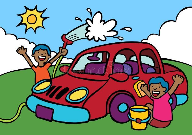 samochodowy obmycie royalty ilustracja