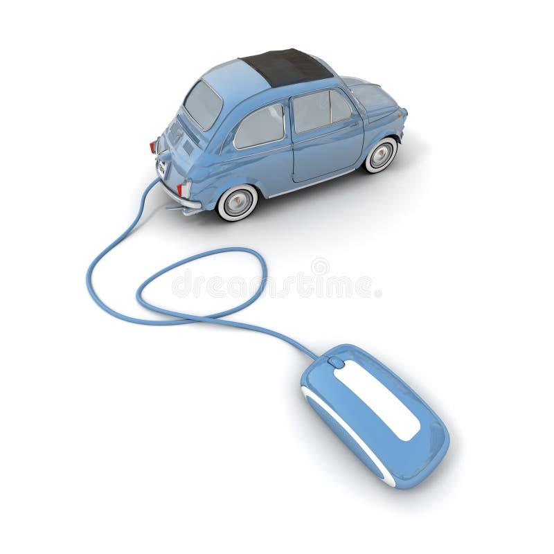 samochodowy online zakupy ilustracja wektor