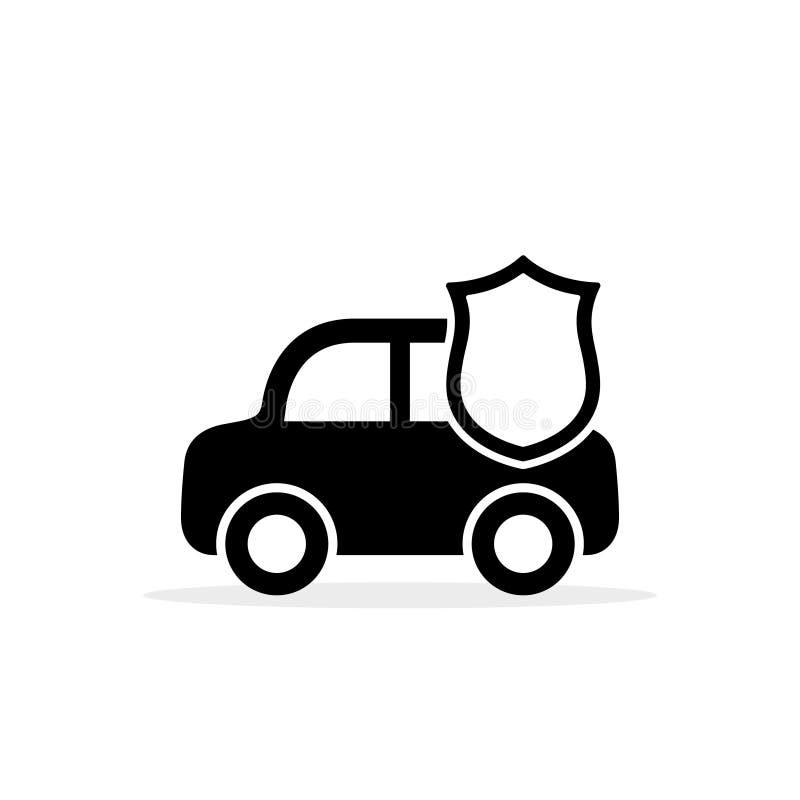 Samochodowy osłony ikony wektor Płaski prosty symbol odizolowywający na białym tle Boczny widok obrazy royalty free
