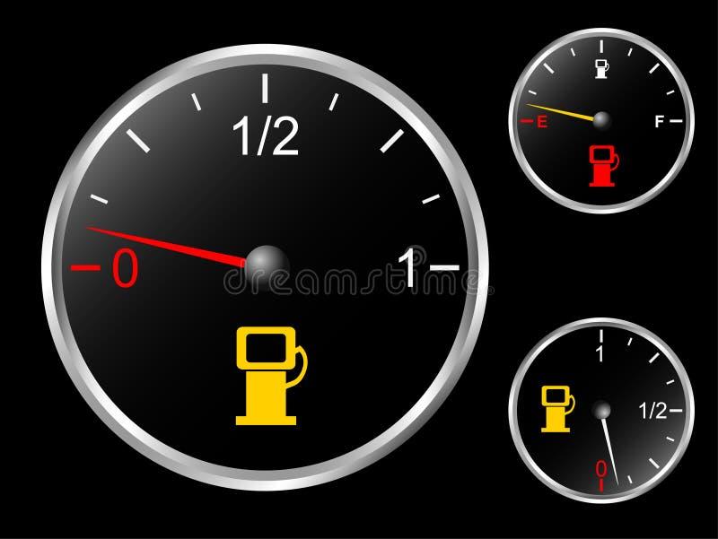 samochodowy paliwowy wymiernik s royalty ilustracja