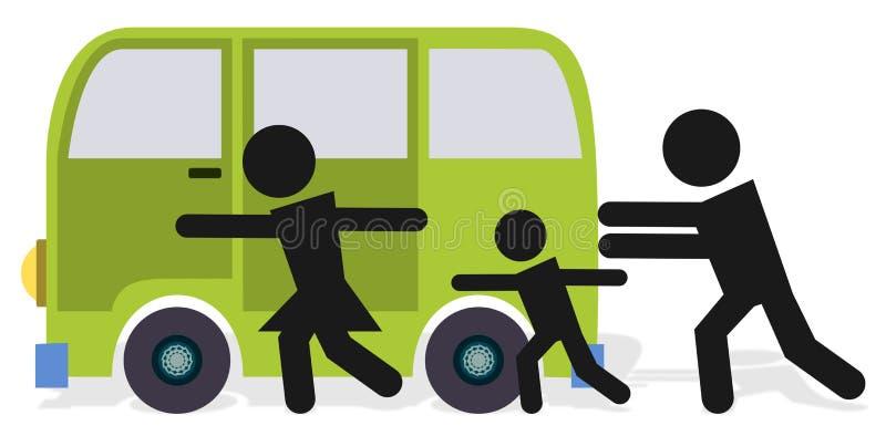 samochodowy pchnięcie ilustracja wektor