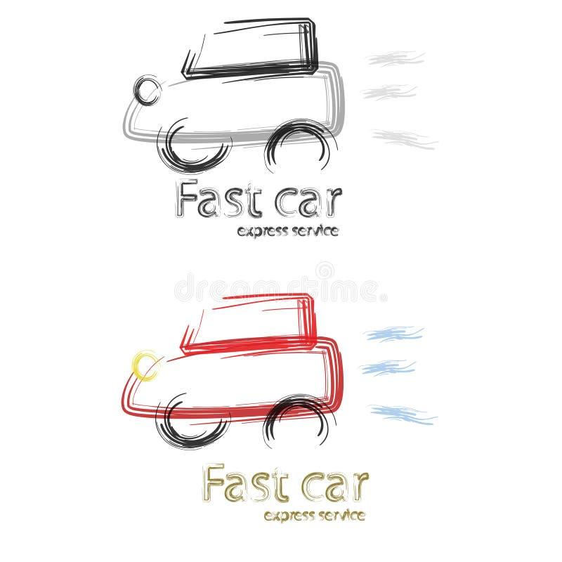 samochodowy post ilustracji