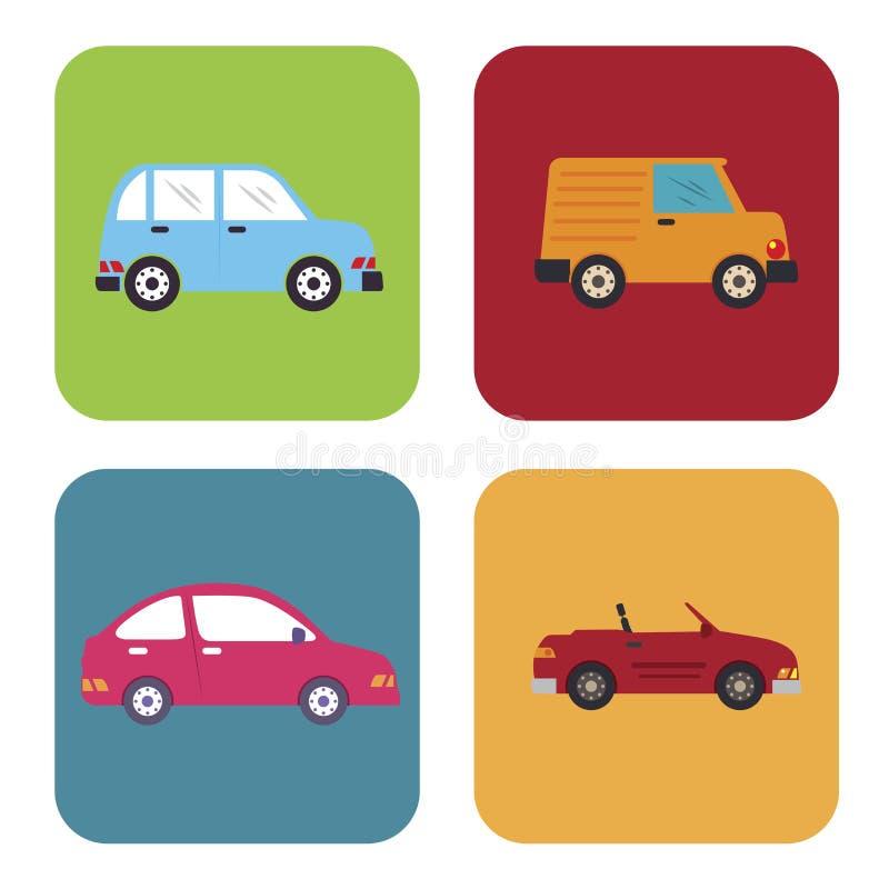 Samochodowy projekt ilustracji