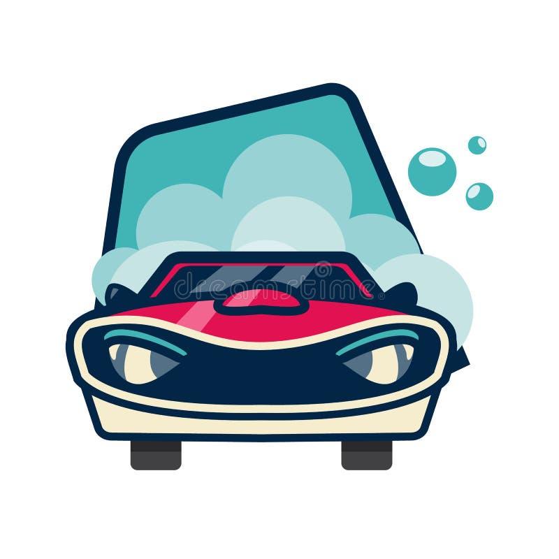 Samochodowy projekt nad błękitnym tłem, wektorowa ilustracja royalty ilustracja
