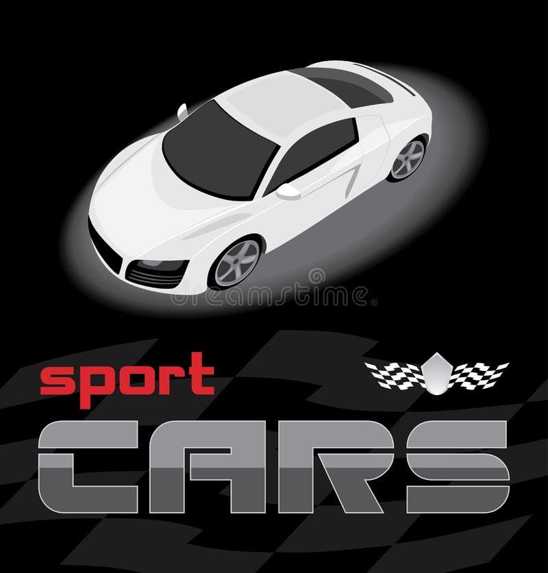 samochodowy projekta ikony sporta biel ilustracja wektor