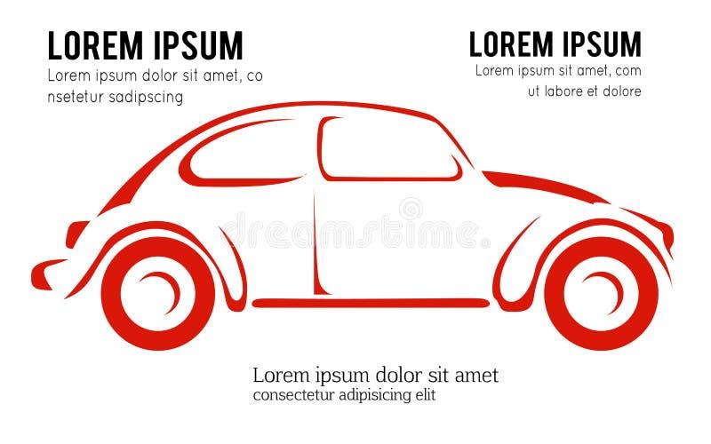 Samochodowy projekta pojęcia logo projekta automobilowy wektorowy szablon na białym tle, ilustracja ilustracja wektor