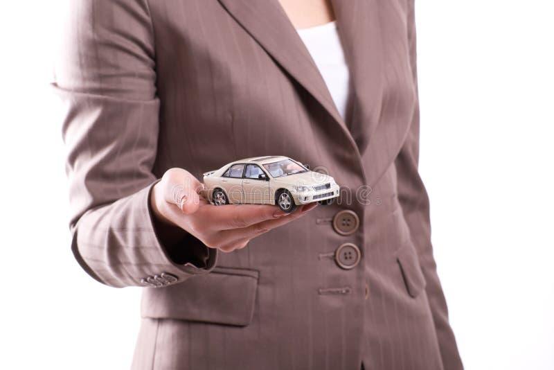 samochodowy ręki mienia model obraz royalty free