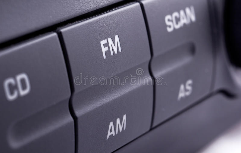 samochodowy radio zdjęcie stock