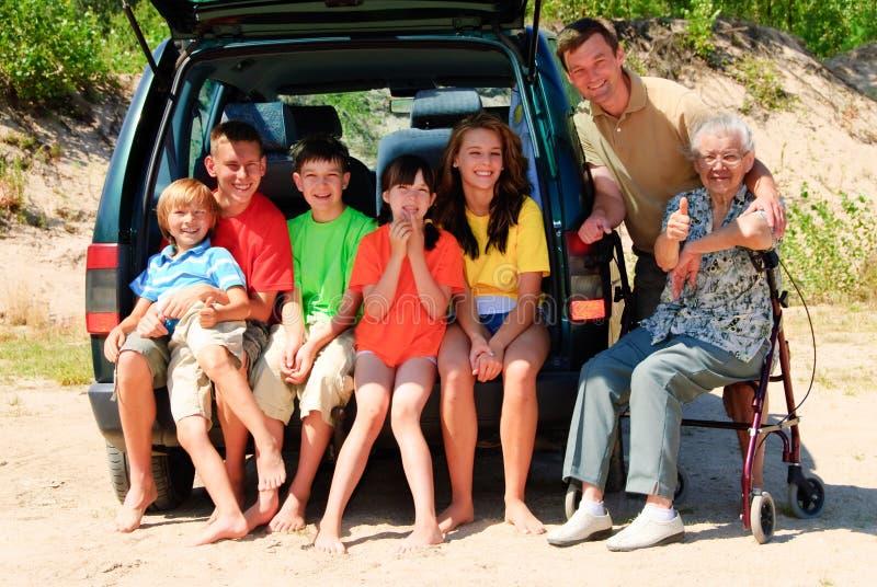 samochodowy rodzinny szczęśliwy zdjęcia stock