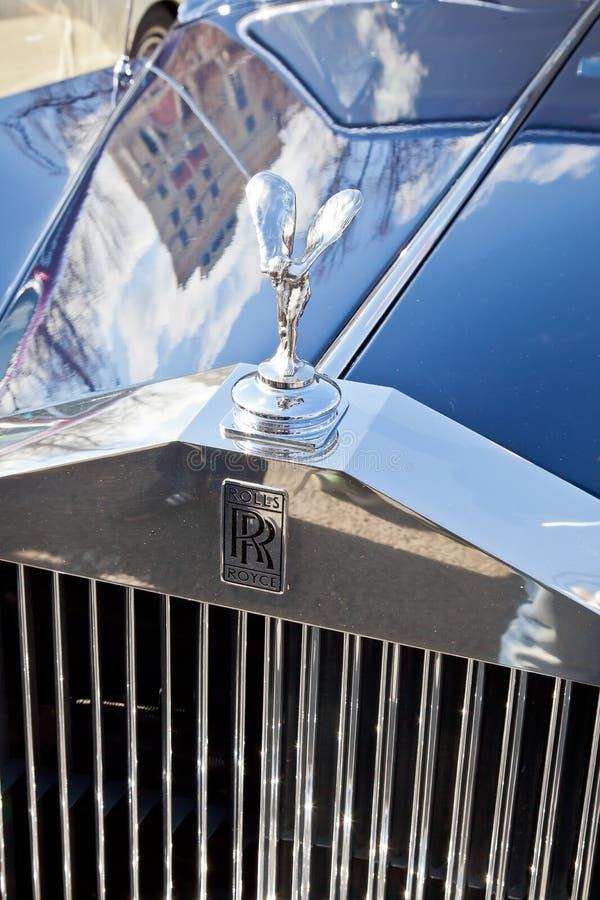 Samochodowy Rolls Royce kapiszon zdjęcia royalty free