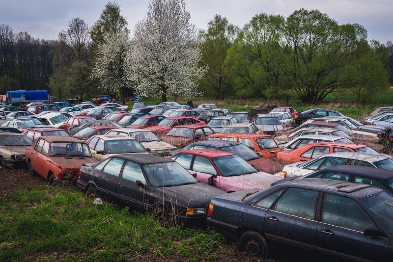 Samochodowy rujnuje jard fotografia stock