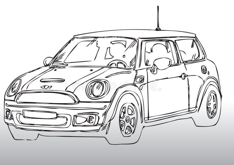 samochodowy rysunkowy mini royalty ilustracja