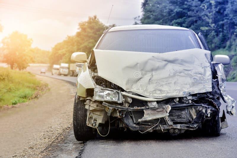 samochodowy samochodów karambolu trzask wielki autostrada zamrażającą prędkość obrazy royalty free