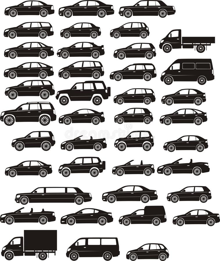 samochodowy set royalty ilustracja