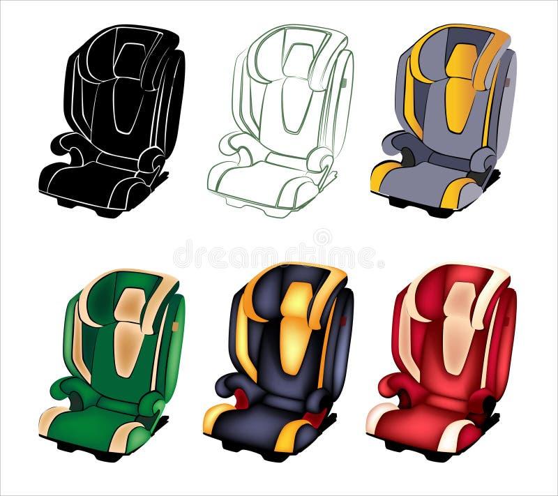 Download Samochodowy siedzenie. ilustracja wektor. Ilustracja złożonej z bezpieczeństwo - 28966586