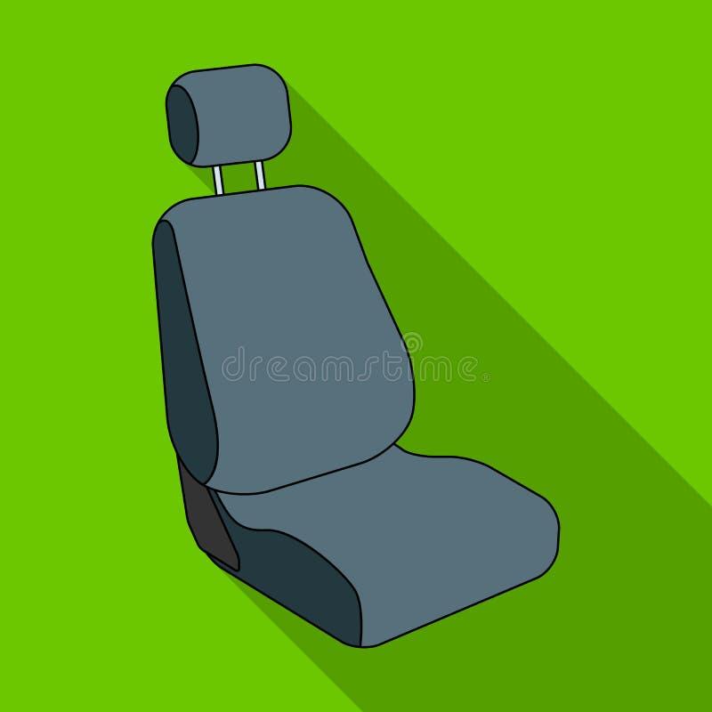 Samochodowy siedzenie Samochód pojedyncza ikona w mieszkanie stylu symbolu zapasu ilustraci wektorowej sieci royalty ilustracja