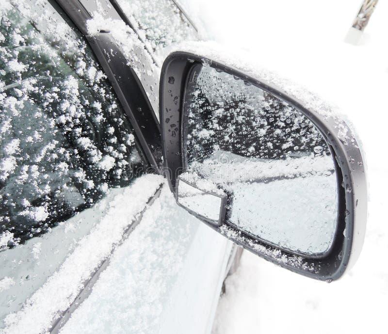 Samochodowy Skrzydłowy lustro zdjęcie stock