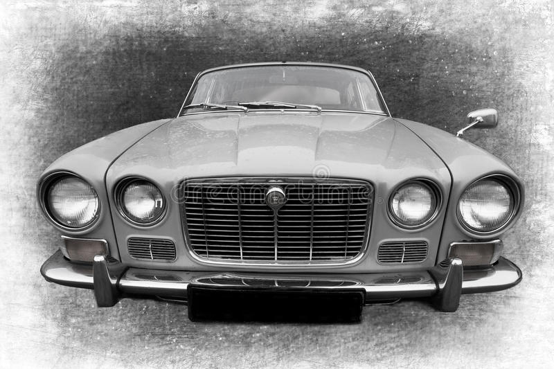 samochodowy stary retro obraz stock