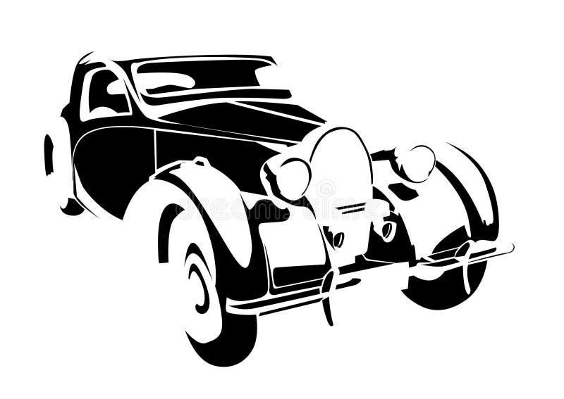 samochodowy stary rocznik ilustracji