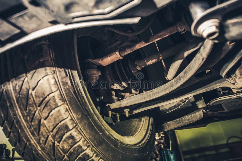 Samochodowy sterowanie i zawieszenie zdjęcie royalty free