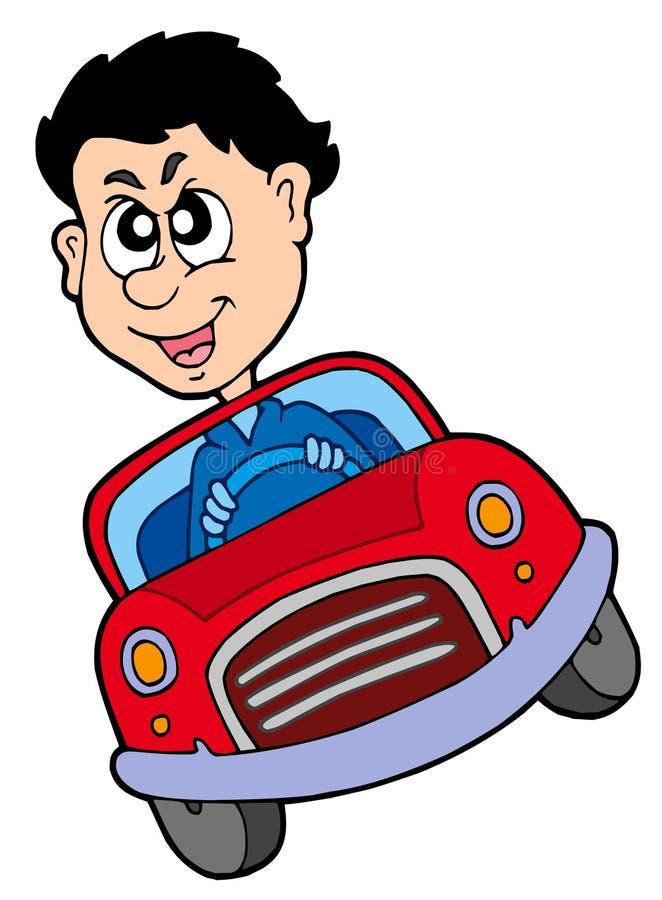samochodowy szalony kierowca ilustracja wektor