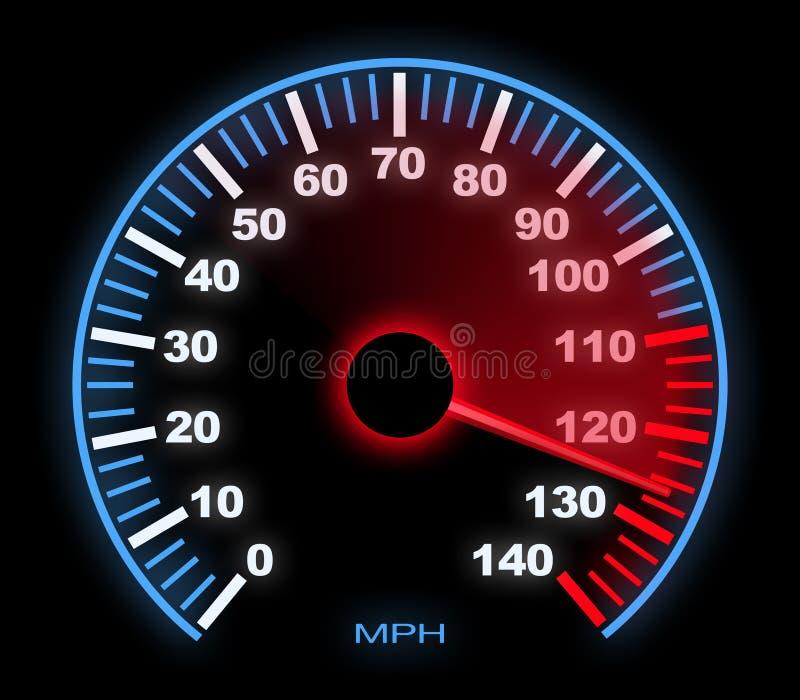 Samochodowy szybkościomierz ilustracji