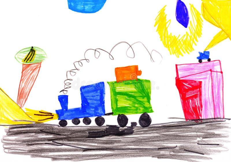 samochodowy target3084_1_ dzieci idzie s ilustracja wektor