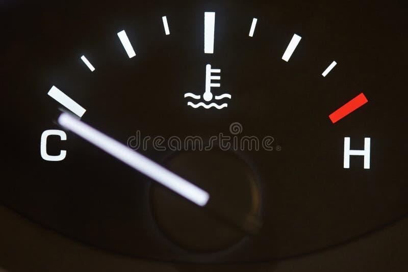 Samochodowy temperaturowy coolant metr zdjęcia stock