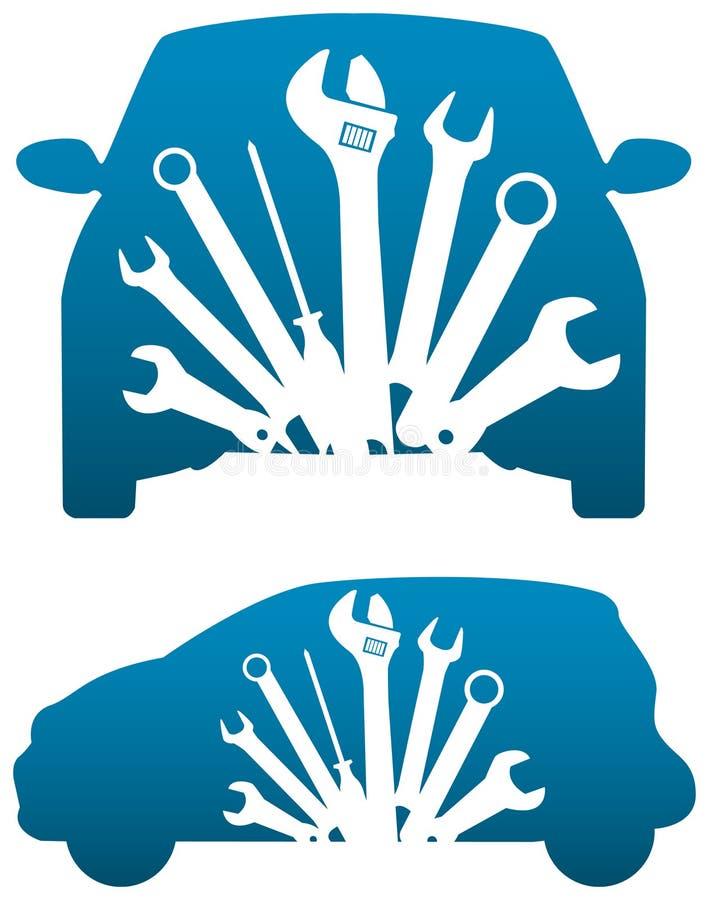 Samochodowy warsztat ilustracja wektor