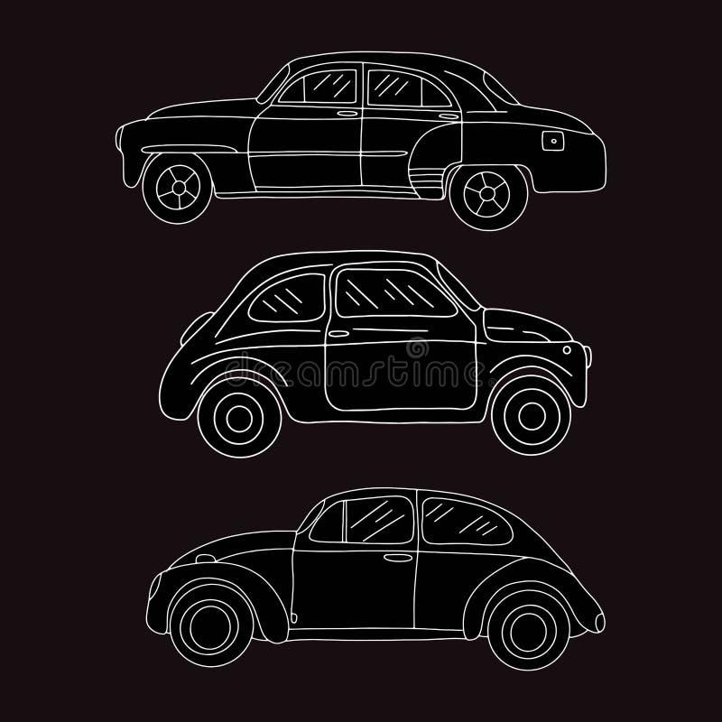 Samochodowy wektoru set, Przewieziona ilustracja royalty ilustracja
