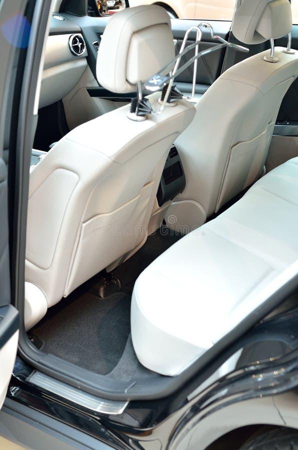 Biali samochodowi siedzenia zdjęcie royalty free