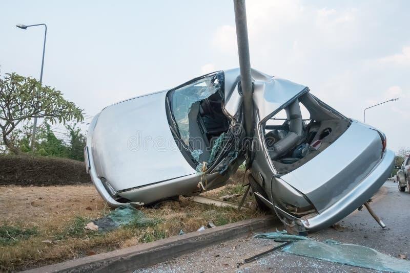 Samochodowy zderzenie obraz stock
