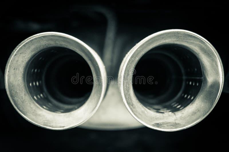 Samochodowych mufflers zamknięty up fotografia royalty free