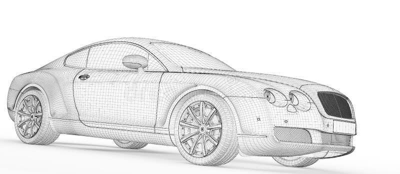 Samochodu 3D Model Obraz Royalty Free