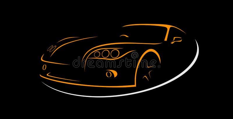 Samochodu Czynszowy abstrakt Wykłada wektor logo również zwrócić corel ilustracji wektora ilustracji