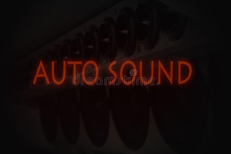 Samochodu dźwięk obraz royalty free