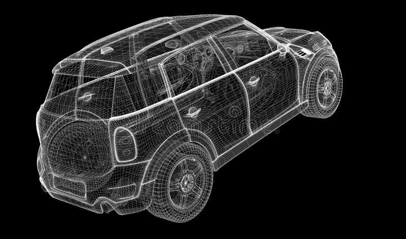 Samochodu 3D model royalty ilustracja