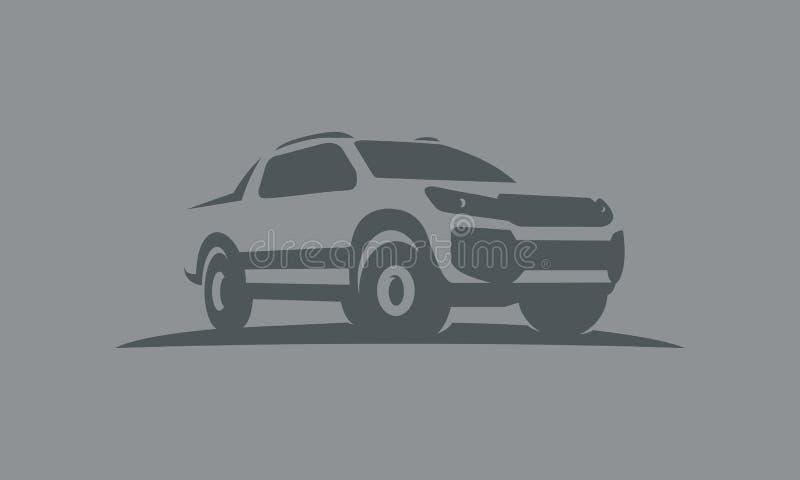 Samochodu dwoisty kabinowy offroad logo ilustracji