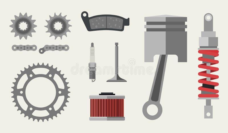 Samochodu i moto części ilustracji