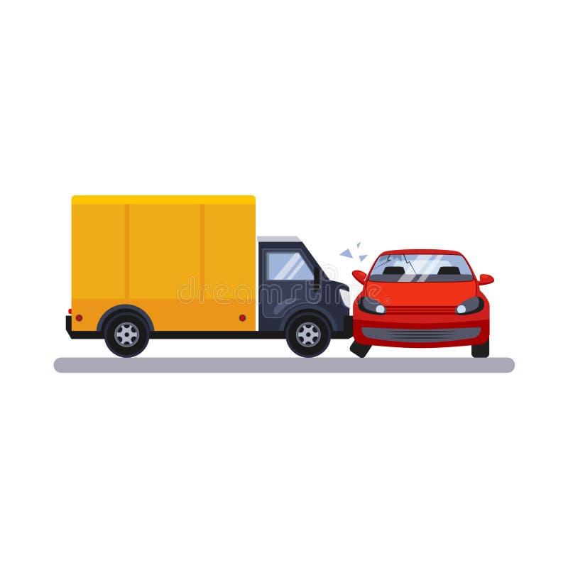 Samochodu i transportu zagadnienie z ciężarówką również zwrócić corel ilustracji wektora ilustracja wektor