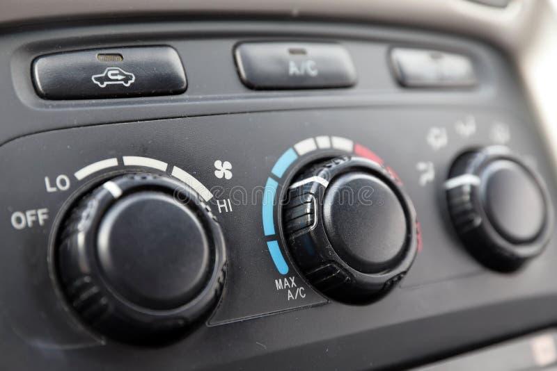 Samochodu klimatu kontrole na desce rozdzielczej zdjęcia royalty free