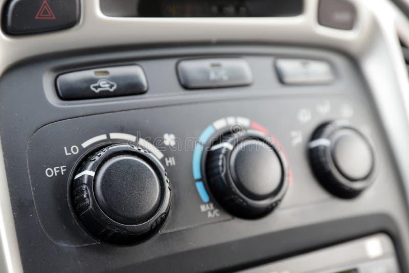 Samochodu klimatu kontrole na desce rozdzielczej obraz royalty free