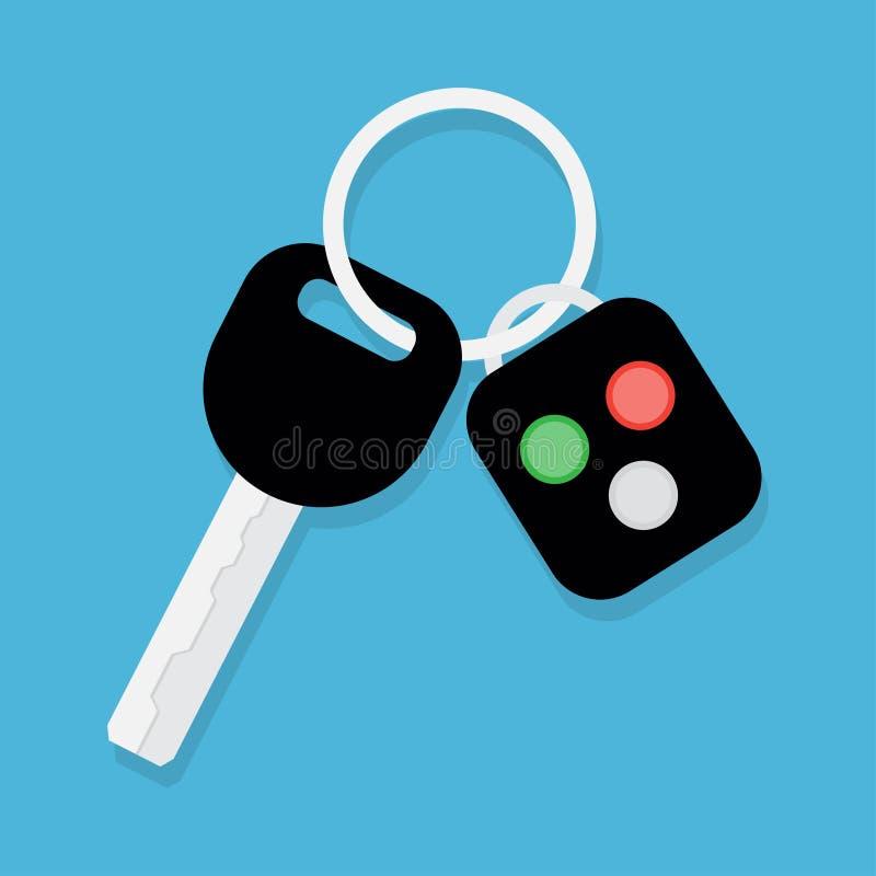 Samochodu klucz alarmowy system i ilustracja wektor