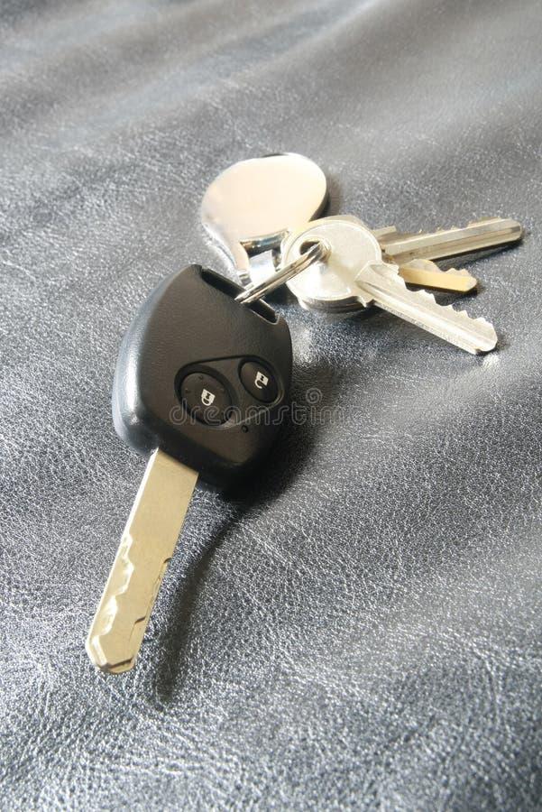 Samochodu klucz - daleki kontroler fotografia stock