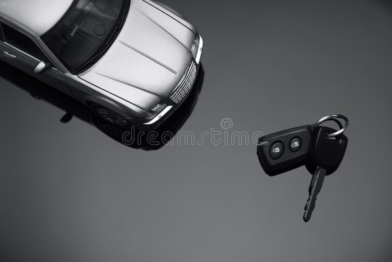 samochodu klucza srebro zdjęcie stock