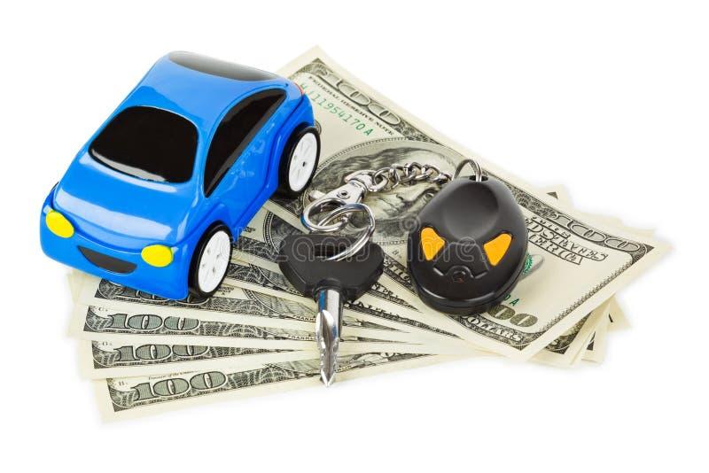 samochodu kluczy pieniądze zabawka zdjęcia royalty free