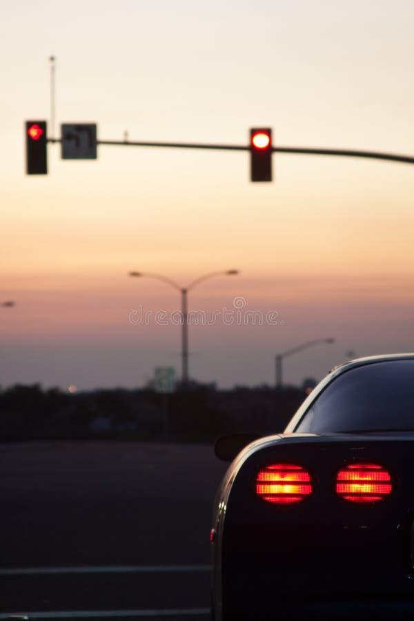 samochodu lekcy świateł sporty zatrzymują ogon obrazy royalty free